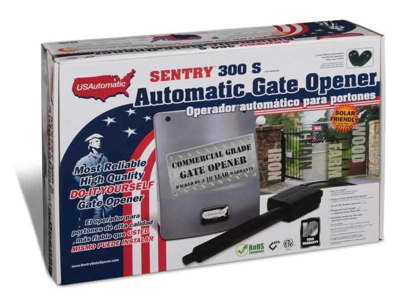 Review: Why the US Automatic Sentry 300 S is the best gate opener in the market?