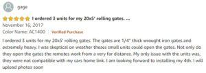 Popsport sliding gate opener Amazon user review