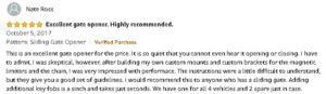 CO-Z gate opener customer review